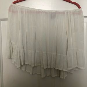 Forever 21 White Off the Shoulder Top